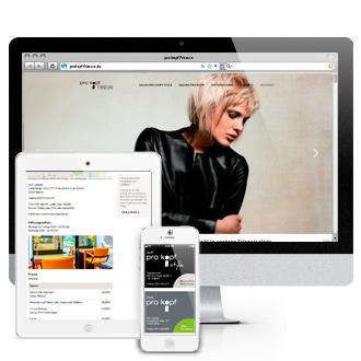 Website pro kopf Friseure - Die Salon von pro kopf und pro kopf style