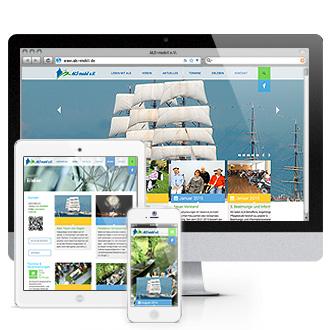 Website ALS-mobil e.V.: Responsive Webdesign
