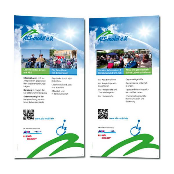 bb BERLIN Portfolio: ALS-mobil e.V. Rollup-Banner