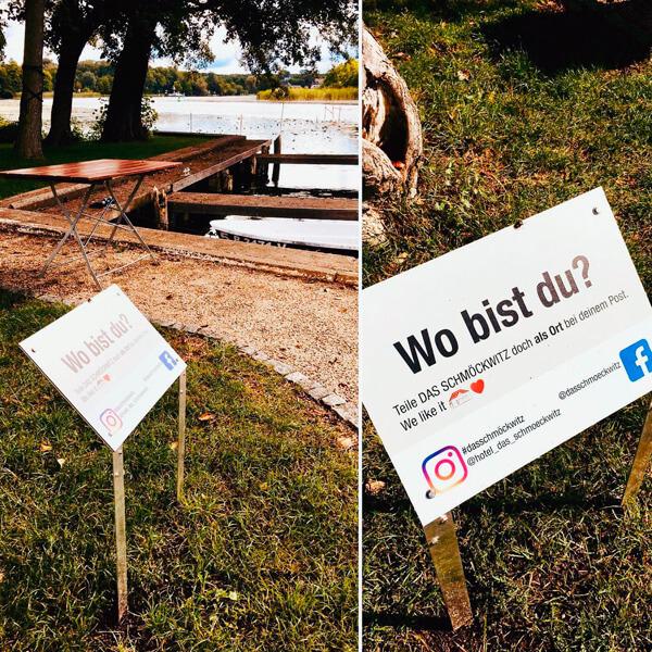bb BERLIN Portfolio: Das Schmöckwitz Social Media-Schilder