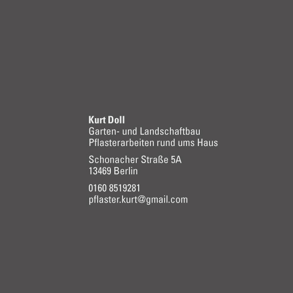 bb BERLIN Portfolio Logos: Kurt Doll Pflasterarbeiten rund ums Haus