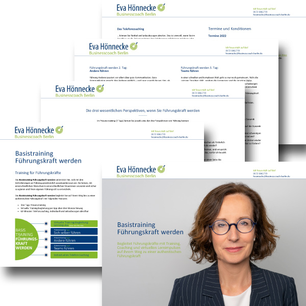 bb BERLIN Portfolio Markenauftritt: Eva Hönnecke Businesscoach Berlin - Basistraining Führungskraft werden