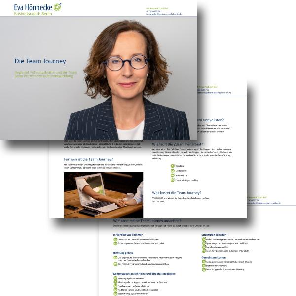 bb BERLIN Portfolio Markenauftritt: Eva Hönnecke Businesscoach Berlin - Die Team Journey