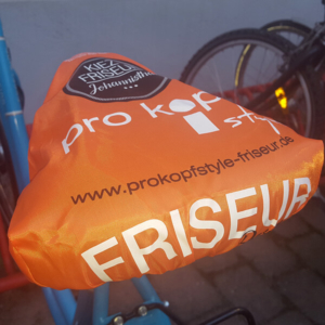 bb BERLIN Portfolio Markenauftritte: pro kopf style Fahrradsattelbezug