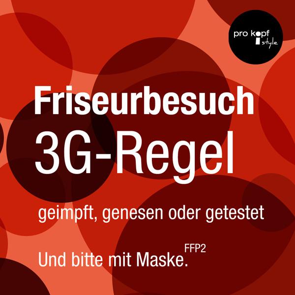 bb BERLIN Portfolio Social Media: pro kopf style - Friseurbesucht mit 3G-Regel