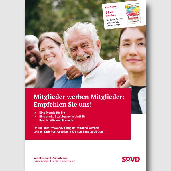 bb BERLIN Portfolio: SoVD Berlin-Brandenburg - Kampagne Mitglieder werben Mitglieder - Plakat