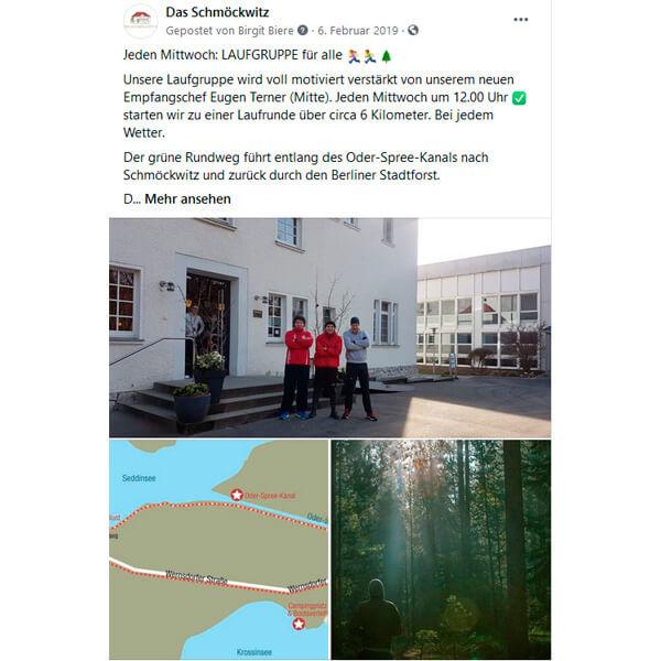 Social Media Facebook: Das Schmöckwitz - Laufen
