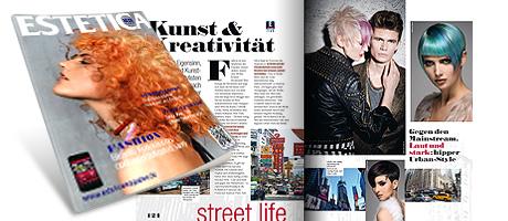 Presseveröffentlichung von JeanLuc Paris, Kollektion FOURSOME, in ESTETICA, Deutsche Ausgabe, 03/2013