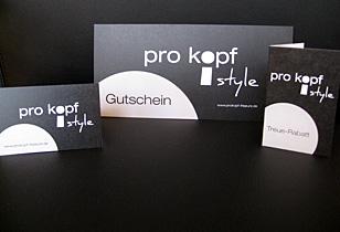 Markenauftritt des Friseurs pro kopf style