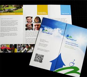 Markenauftritt für ALS mobil e.V. - Infoflyer