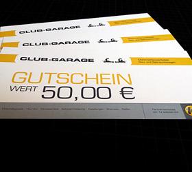 Club-Garage Mehrmarkenwerkstatt: Gutscheine