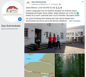 DAS SCHMÖCKWITZ Tagen und Genießen am See: Social Media - Facebook Beitrag
