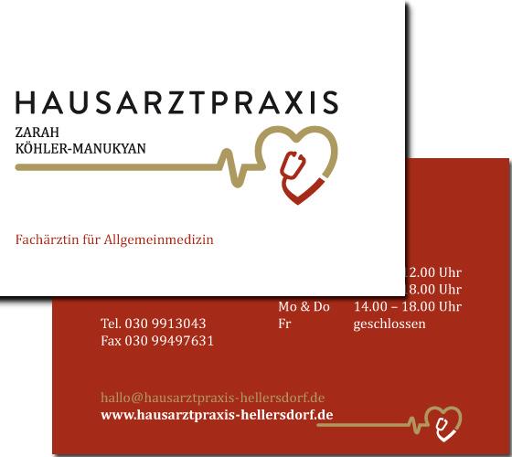 Hausarztpraxis Zarah Köhler-Manukyan: Visitenkarte