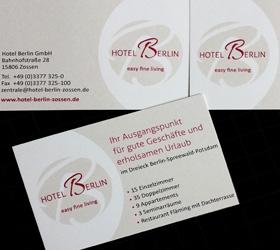 Hotel Berlin, Zossen: Logo Relaunch - Visitenkarten
