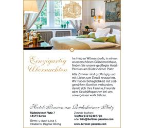 Markenauftritt Hotel-Pension am Rüdesheimer Platz: Anzeige