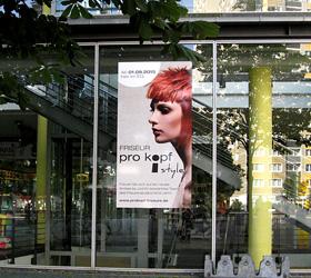 Markentauftritt für den Friseursalon pro kopf Style im Tierparkcenter - Werbung Center