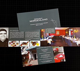Restaurant Morgenland: Relaunch Werbemittel. Imageflyer.