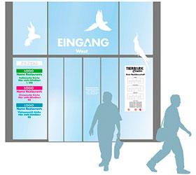Marketingkonzept Tierparkcenter: Gestaltung Eingang (Kundenführung)