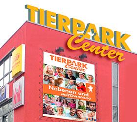 Marketingkonzept Tierparkcenter: Logo, Slogan und Fassade