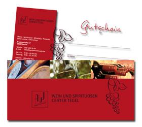 WEIN UND SPIRITUOSEN CENTER TEGEL: Werbemittel Gutschein