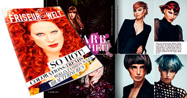 Fachzeitschrift Friseur Welt 3/2017: Veröffentlichung Frisurenkollektion PROGRESSIVE von JeanLuc Paris.