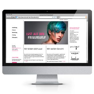 """Website """"Lust auf den Friseurberuf"""" - Startseite"""