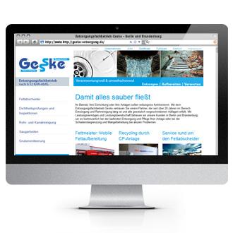 Website Geske Entsorgung: Startseite