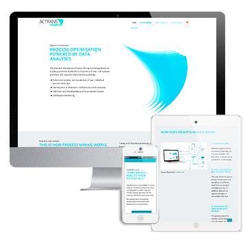 Website ACTRANS Analytics, ein Service der ACTRANS GmbH.