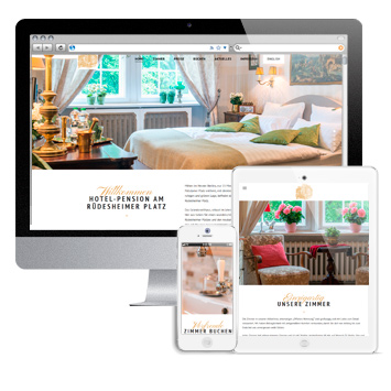Website berliner-pension.com auf verschiedenen devices.