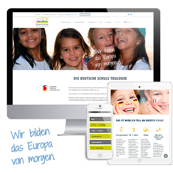 Website Deutsche Schule Toulouse #wordpress #responsive