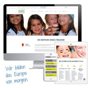 Website Deutsche Schule Toulouse #wordpress #responsive