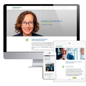 Eva Hönnecke Businesscoach Berlin: Screenshots Website businesscoach-berlin.de auf verschiedenen Devices