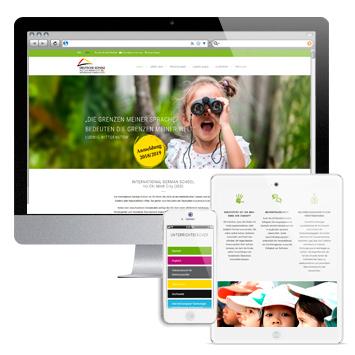 Website igs-hcmc.org, mehrsprachig, responsive design