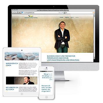 Website lutzpickhardt.com: Screenshots auf drei devices