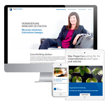 Website Pieper Consulting auf verschiedenen Devices