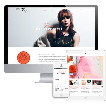 Website vom Friseurunternehmen pro kopf style | Kiezfriseur Johannisthal