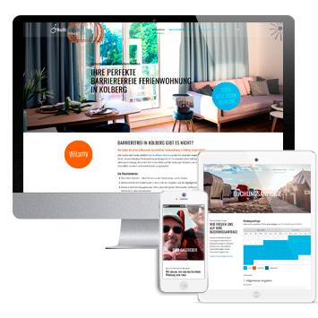 Website Rolli-Urlaub Kolberg #wordpress #responsive